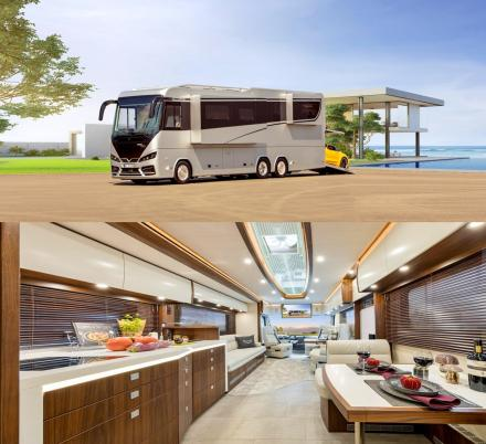 This Amazing $1.8 Million Ultra-Luxury RV Has Its Own Garage In The Back