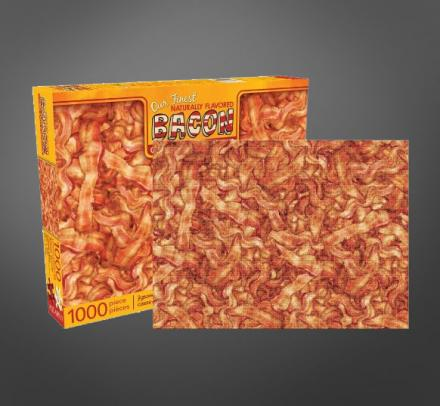 Bacon Lovers Rejoice, There's Now a 1,000 Piece Jigsaw Puzzle Of a Giant Pile Of Bacon