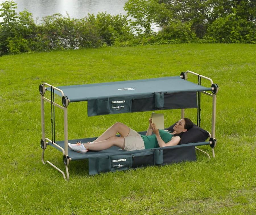 Disc O Bed An Adult Camping Bunk Bed Turns Into A Sofa During The Day