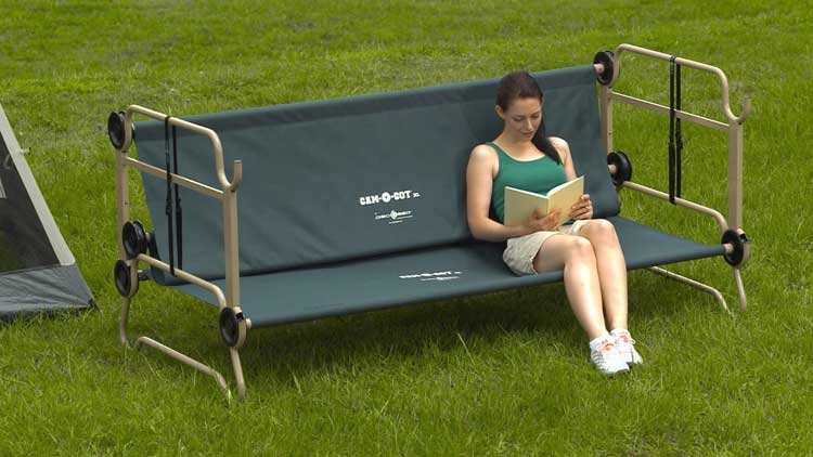 Disc O Bed An Adult Camping Bunk Bed Turns Into a Sofa During