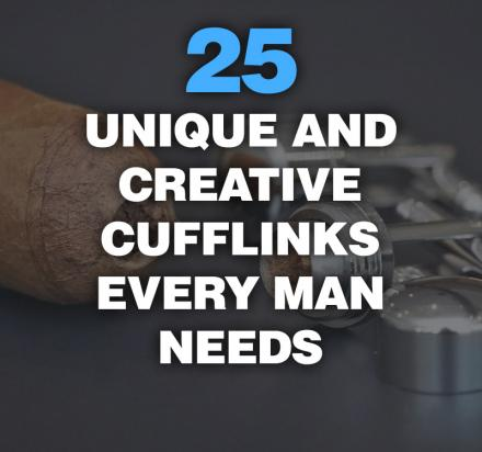 25 Unique And Creative Cufflinks Every Man Needs