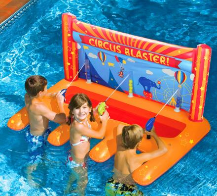 3-Person Pool-Based Water Blasting Circus Game