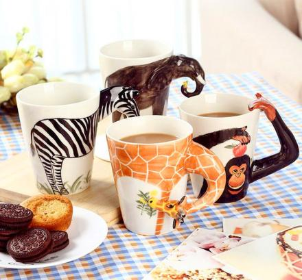 3D Animal Ceramic Mugs