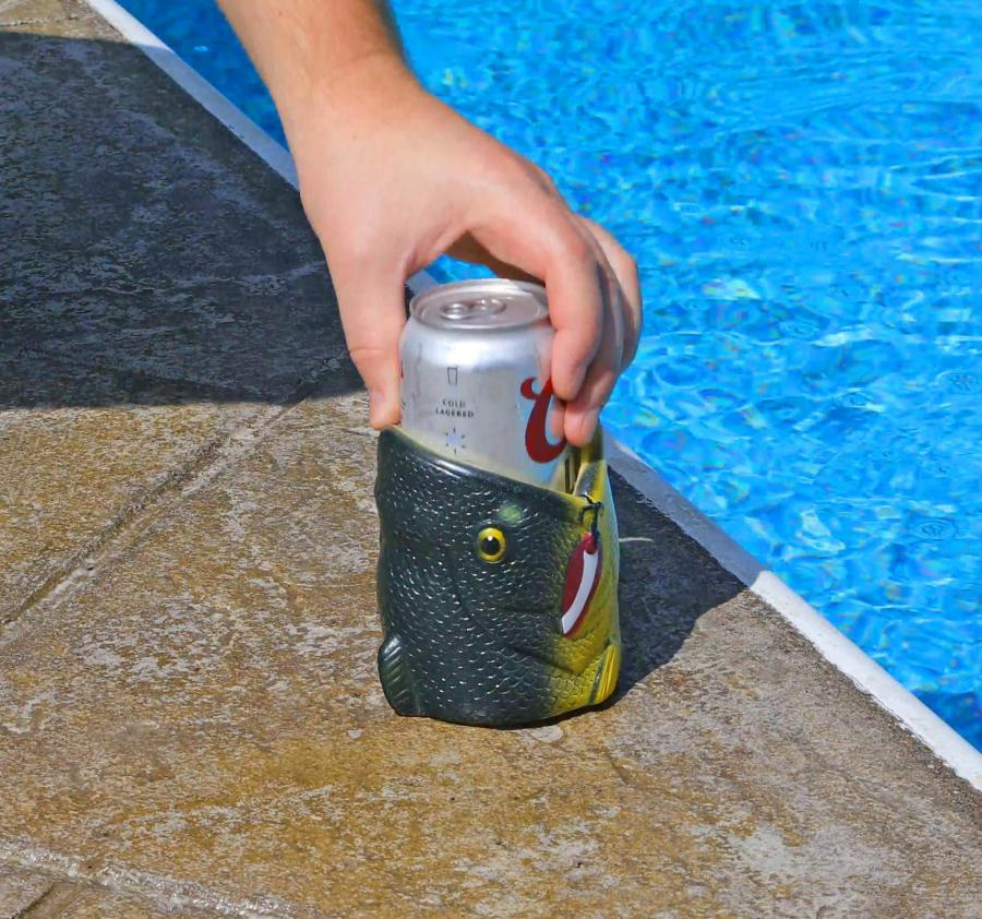 3d fish head beer koozie for Youtube fishing videos big fish