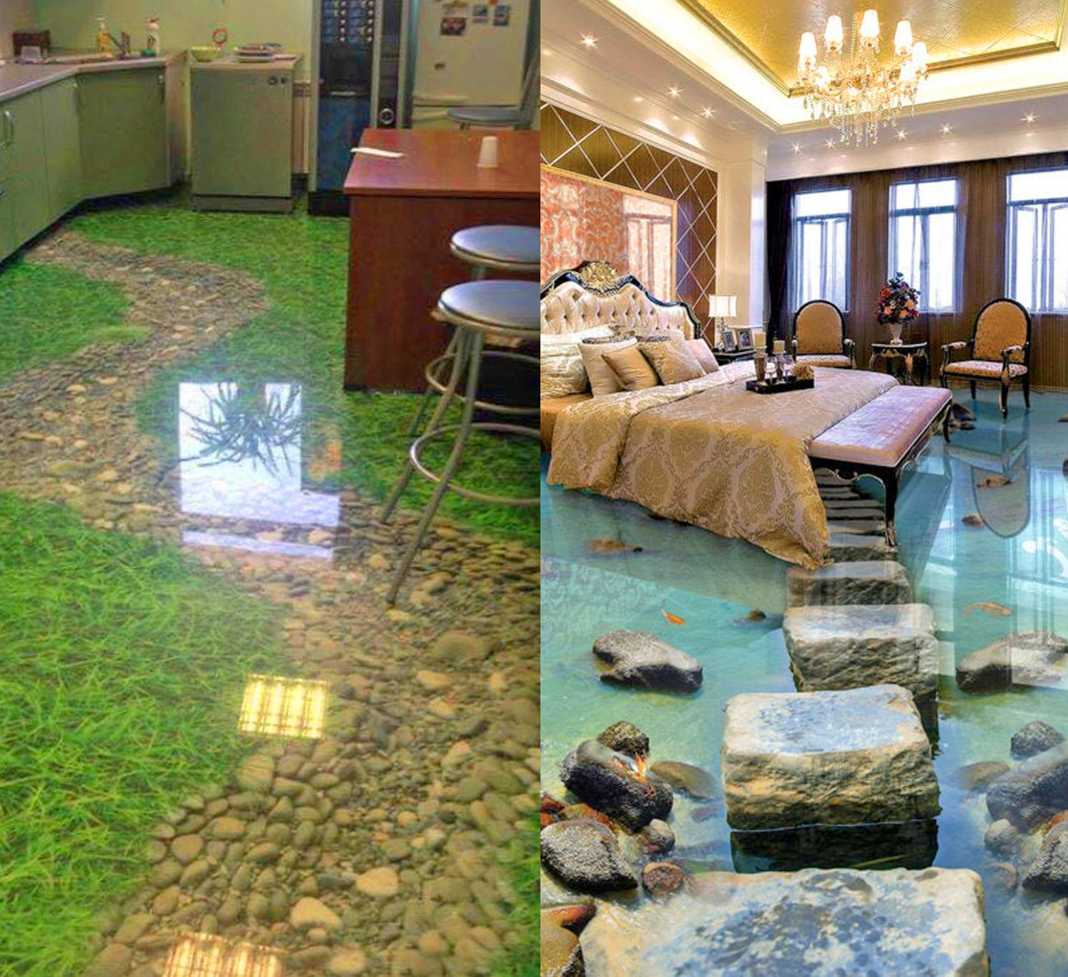 These Incredible 3d Epoxy Floors Will Turn Your Room Into A Beach