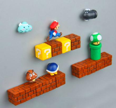 3D Mario Fridge Magnets Let You Build Your Own Mario Level