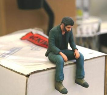 3D Printed Sad Keanu Reeves