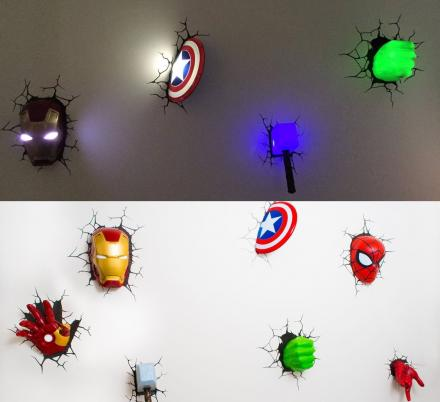 These 3D Superhero Night-Lights Are Perfect For Any Marvel Lovers Bedroom