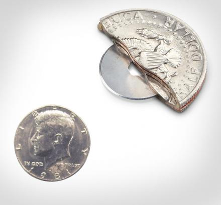 50 Cent Piece Hidden Knife Blade