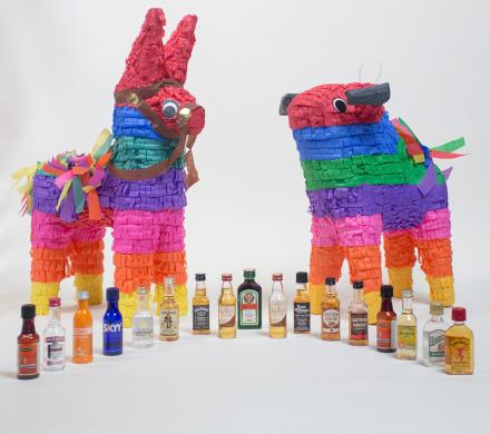 A Booze Pinata That Spits Out Mini Bottles Of Alcohol Instead Of Candy