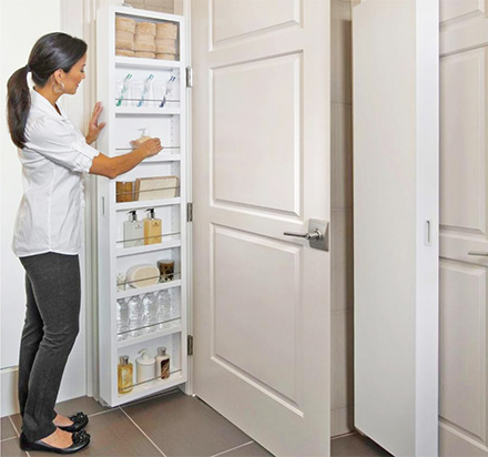 Behind-The-Door Hidden Cabinet System