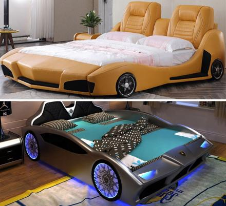Apparently There's Now Adult Race Car Beds That Can Fit Queen and King Size Mattresses