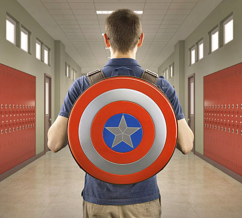 Adult Sized Captain America Shield Backpack