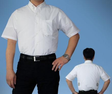 Air-Conditioned Shirt With A Fan