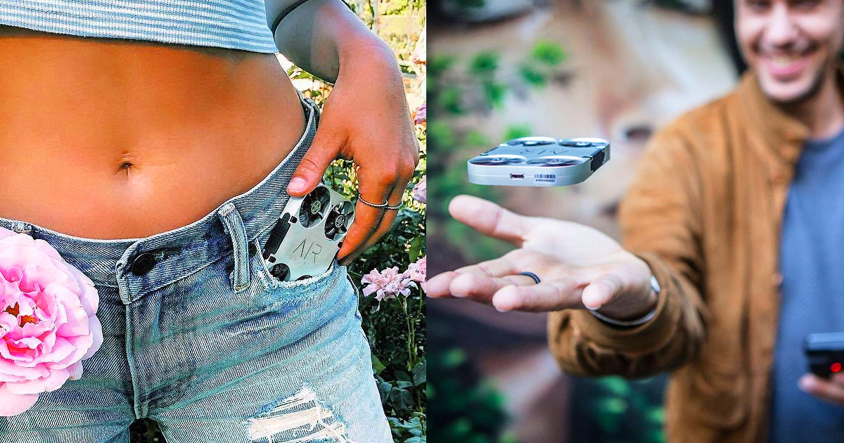 Air PIX Pocket Sized Drone Lets You Get The Perfect Selfie, Controlled By Your Phone