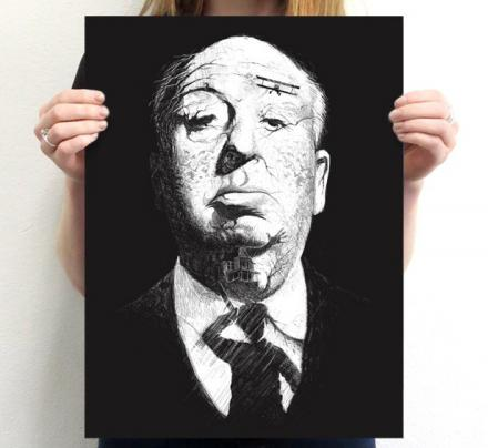 Alfred Hitchcock Hidden Images Poster/T-Shirt