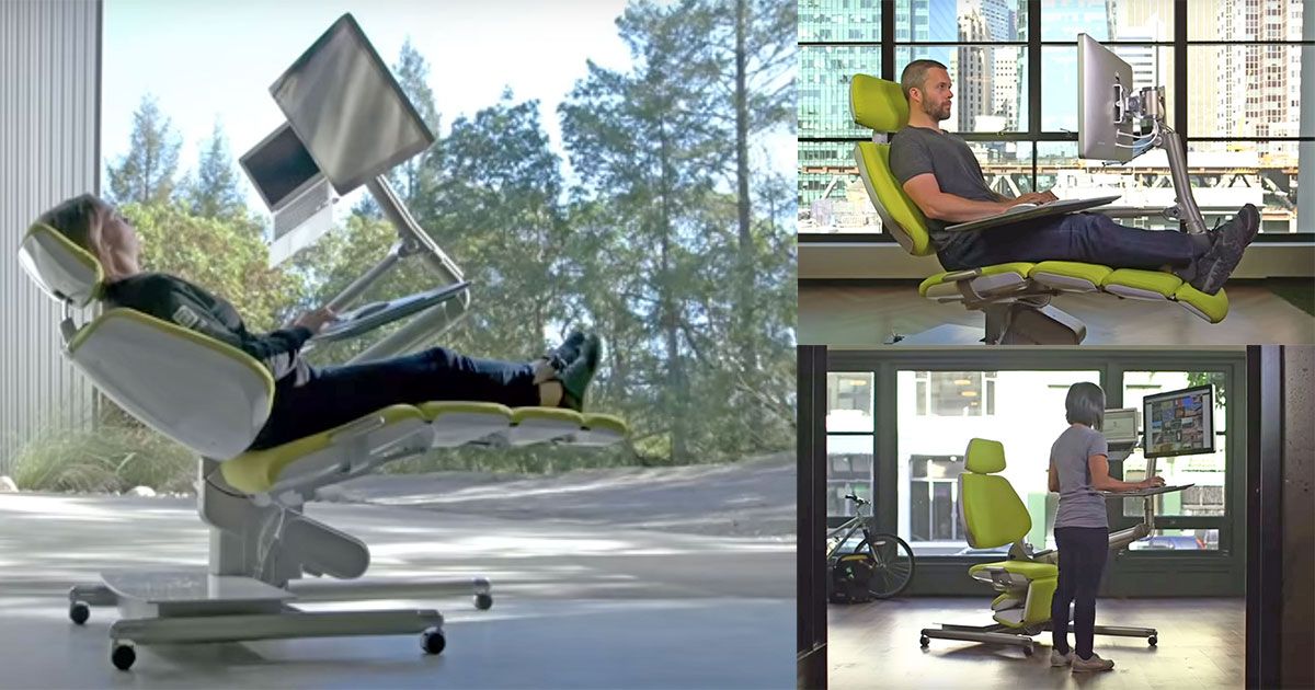 Altwork Robotic Moving Desk Lets You Work Lying Down or Standing