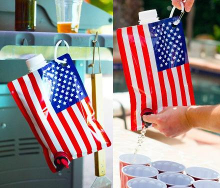 American Flag Liquor Bag Flask
