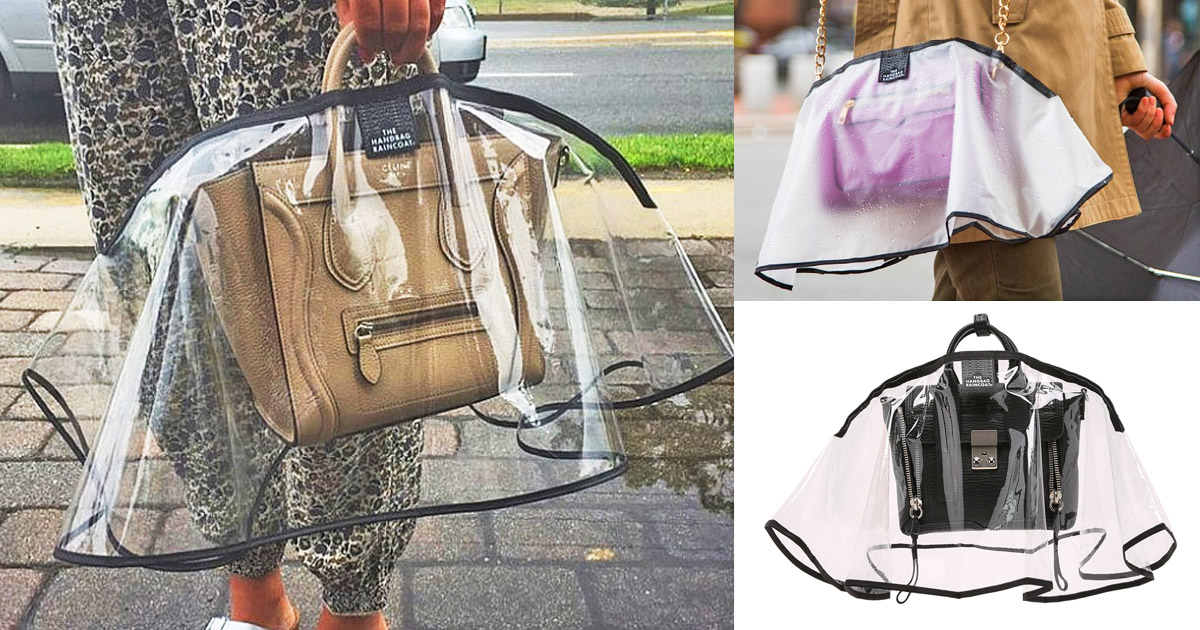 You Can Now Get An Umbrella For Your Purse or Handbag To Keep It Dry In The Rain