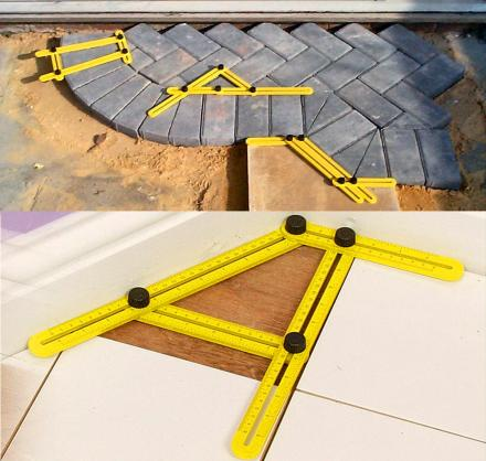 Angle-Izer Tool Gets The Perfect Angle For Cutting Wood, Tile, Brick
