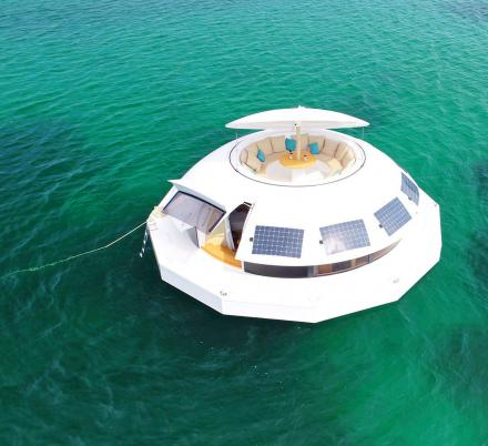 Anthenea Is a Solar Powered Luxury Floating Hotel Suite