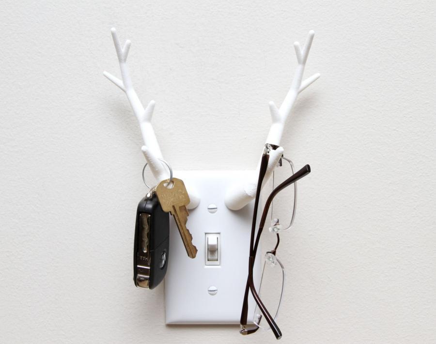 Antler Light Switch Key Holder