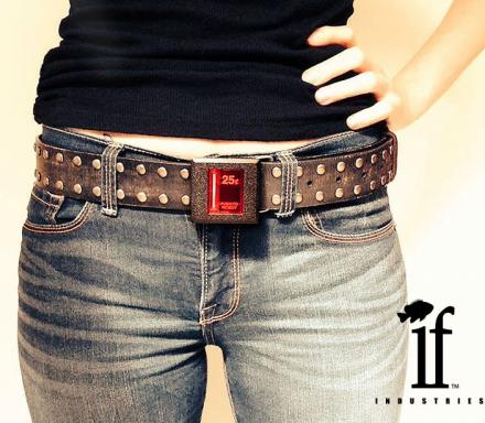 Arcade Coin Slot Belt Buckle That Lights Up