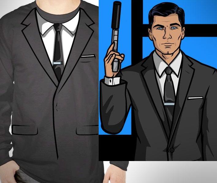 Archer Suit Long Sleeve T Shirt Costume