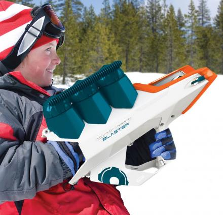 Snowball Blaster Gun: Launches Snowballs Up To 80 Feet