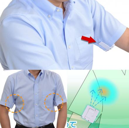 Armpit Fan Connects To Inner Sleeve To Keep You Cool On Hot Days