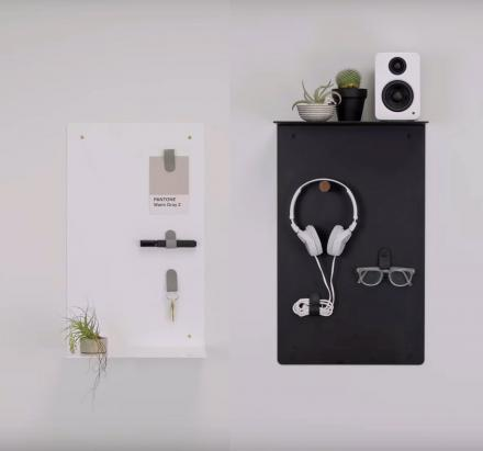 Artifox Minimalist Wall Shelf Lets You Create Your Own Shelf Arrangement
