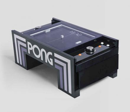 ATARI Pong Coffee Table Lets You Play Real-Life Pong