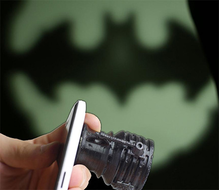 Attach This To Your Smart Phone's Flashlight To Create The Bat-Signal