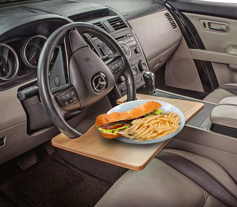 Wheelmate Steering Wheel Table For Easy Eating And Working