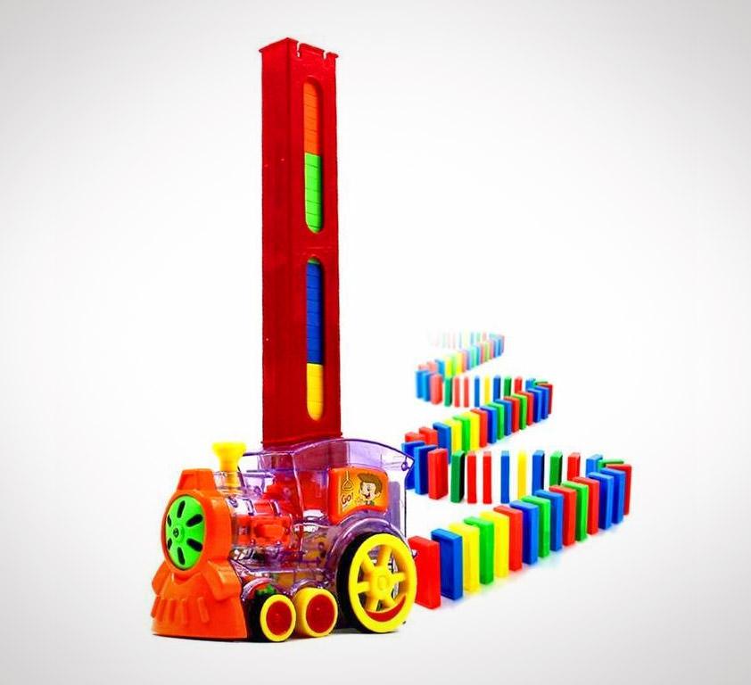 Automatic Domino Brick Laying Toy Train