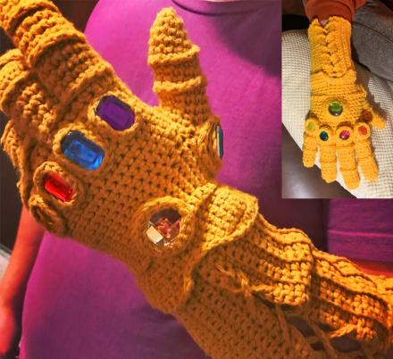 Avengers Infinity Gauntlet Knit Glove (DIY or Pre-made)