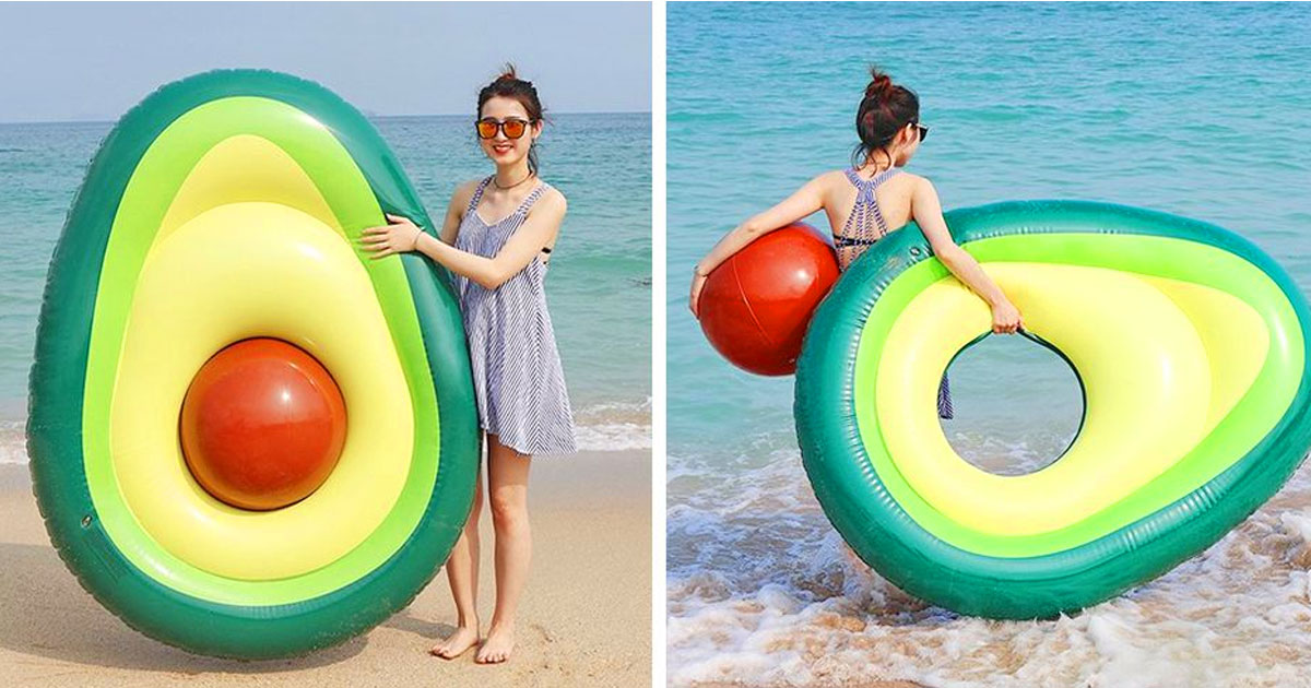 This Avocado Pool Float Has A Removable Pit That