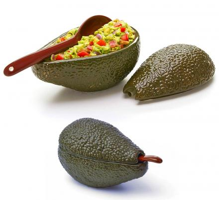 Avocado Shaped Guacamole Serving Dish