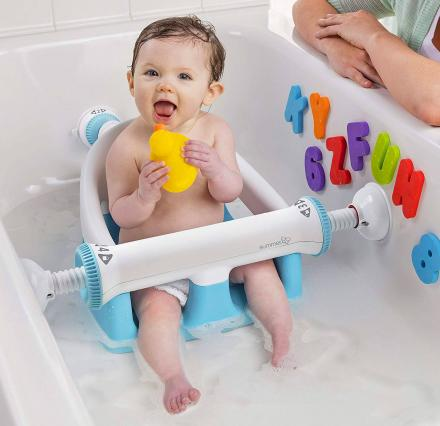 Baby Bathtub Seat With Backrest Suction Cups To Side Of Bathtub