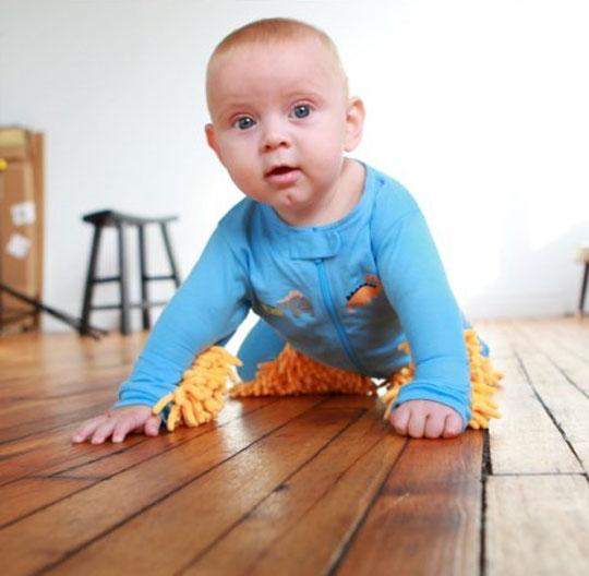 Sweeper Baby Mop Onesie