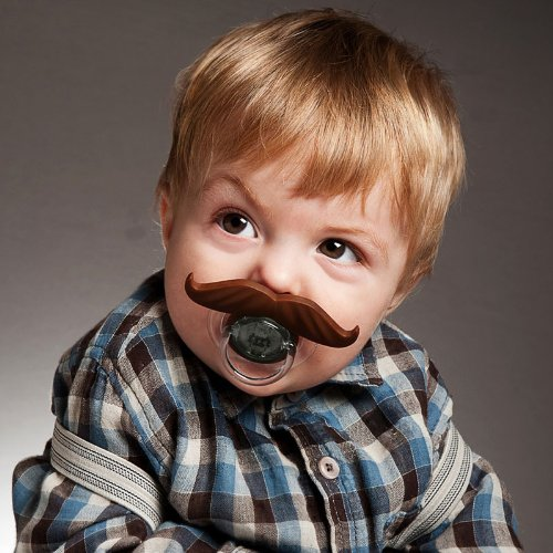 Baby Pacifier Mustache Attachment