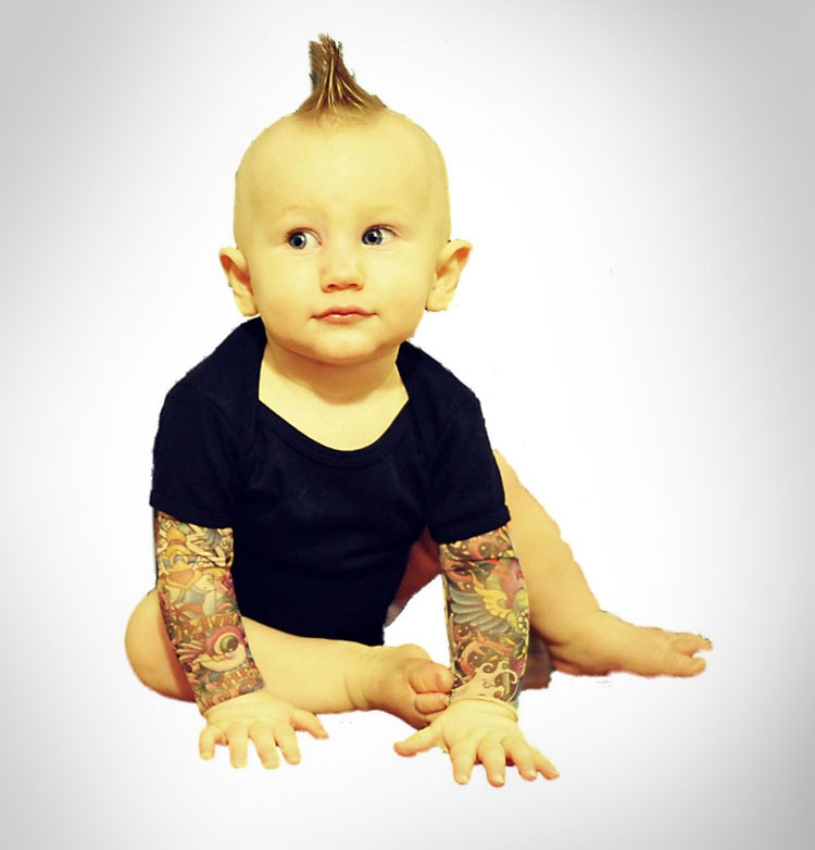 Baby Tattoo Sleeves Onsie