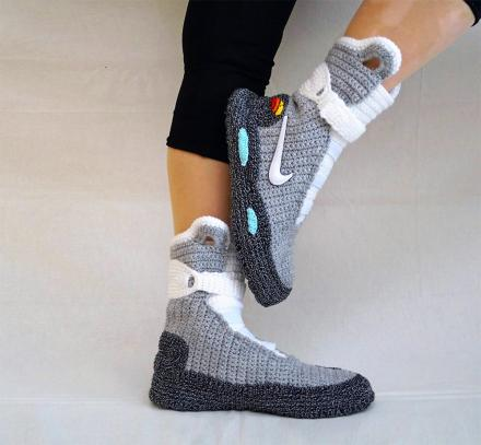 Back To The Future Shoes Knitted Slippers