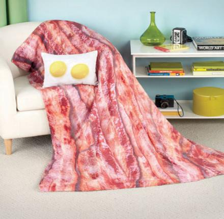 Bacon and Eggs Pillow and Blanket