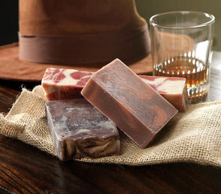 Bacon, Whiskey, Coffee Scented Soaps