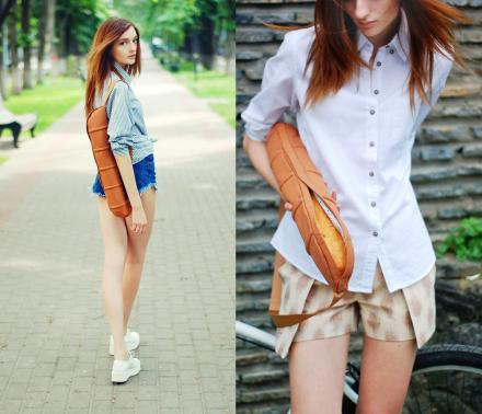 Baguette Bag Is a Slim Tall Shoulder Bag To Safely Transport Your Baguette