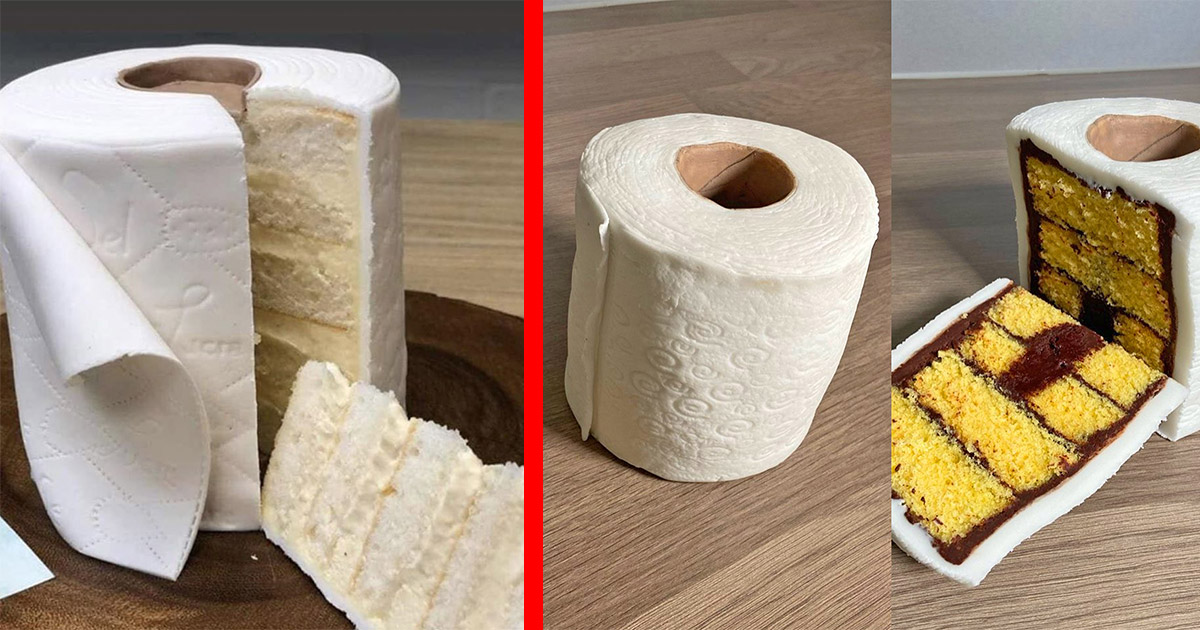 Bakers Are Now Creating Toilet Paper Cakes To Help Ease Tensions On The Toilet Paper Crisis