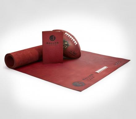 BallerYoga: Yoga Mat Made From Real Football Leather