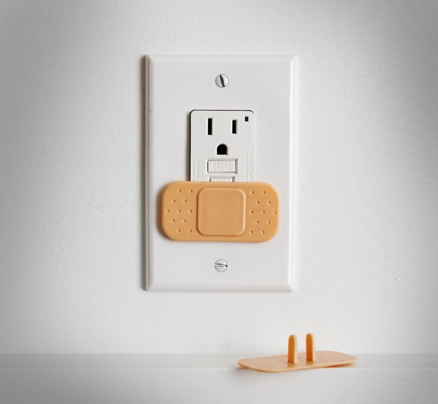 Band aid outlet covers Electrical outlet covers