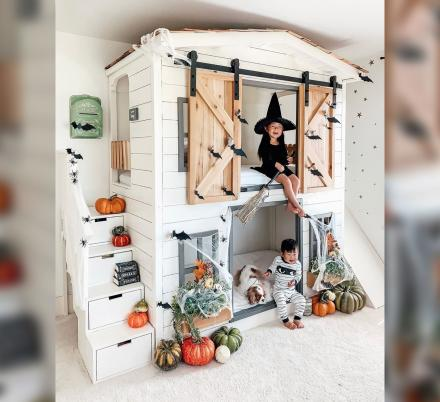 This DIY Farmhouse Bunk Bed Is The Most Adorable Addition To Any Shared Kids Room